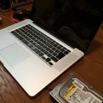 Macbook Pro HDDバックアップ